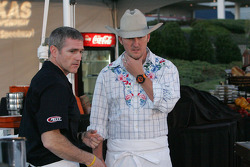 Bobby Labonte and Tim Love