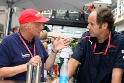 Niki Lauda and co-owner Gerhard Berger