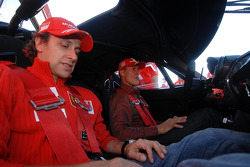 Sunday: Luca Badoer and Michael Schumacher
