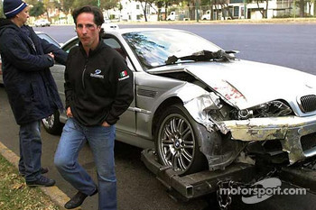Mario Dominguez has a traffic accident in Mexico City