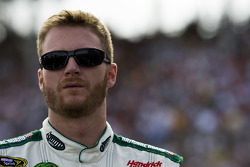 Dale Earnhardt Jr. during National Anthem