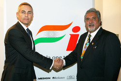 Martin Whitmarsh McLaren Chief Executive Officer and Dr Vijay Mallya Force India F1 Team Owner