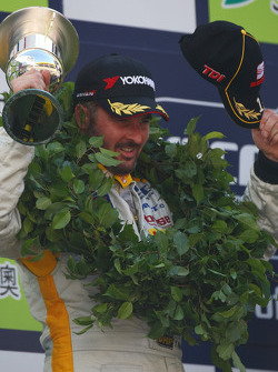 Podium: second place and WTCC 2008 champion Yvan Muller