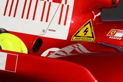 Ferrari have a warning sticker, Danger, High Voltage