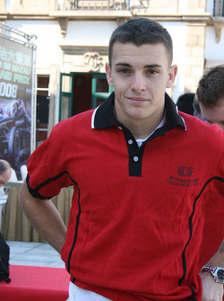 Basketball shootout: Jules Bianchi wonders how he got talked into this