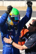Formula BMW World Final winner Alexander Rossi celebrates