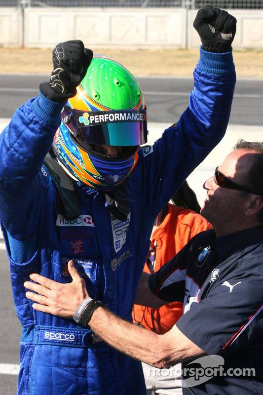 Formula BMW World Final winner Alexander Rossi celebrates