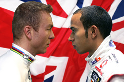 Man vs Machine: Beijing Olympic Gold Medallist Chris Hoy and F1 World Champion Lewis Hamilton will go head to head