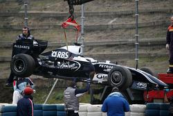 Kazuki Nakajima, Williams F1 Team stops on track in an interim 2009 car