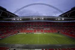 Track building at Wembley Stadium