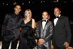 FIA Formula 1 World champion Lewis Hamilton with his family