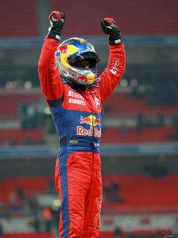 Race of Champions winner Sébastien Loeb celebrates