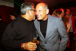 Dr Vijay Mallya Force India F1 Team Owner with Ron Dennis McLaren Team Principal at the Fly Kingfisher Boat Party