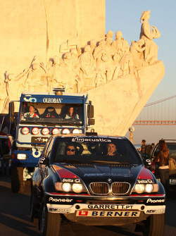 Pioneer Solo Desert Team BMW presentation in Lisbon: driver Ricardo Leal dos Santos and co-driver Filipe Palmeiro
