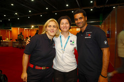 Tina Thorner and Nasser Saleh Al Attiyah