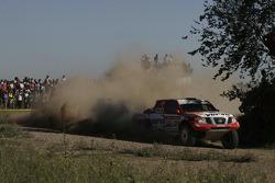 #317 Nissan Navara: Krzysztof Holowczyc and Jean-Marc Fortin