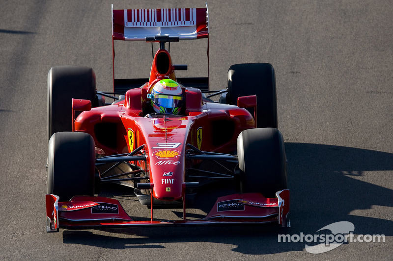 Felipe Massa tests the new Ferrari F60