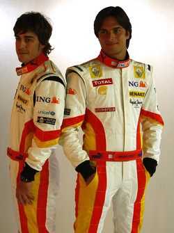 Fernando Alonso and Nelson A. Piquet
