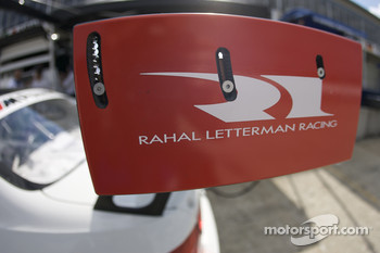 Rear wing detail of the #92 BMW Rahal Letterman Racing Team BMW E-92 M3