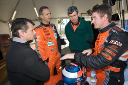 Oswaldo Negri, Mark Patterson and Ryan Hunter-Reay