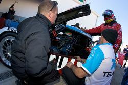Juan Pablo Montoya and Memo Rojas practice drivers change