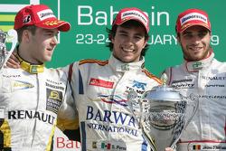 Sergio Perez 1st, Davide Valsecchi 2nd, Jerome d'Ambrosio 3rd