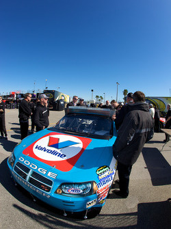 Richard Petty Motorsports Dodge of A.J. Allmendinger at tech inspection