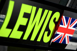 pitboard of Lewis Hamilton, McLaren Mercedes