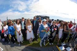 Valentine day special at Daytona: couples get married on the start-finish line