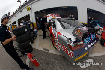 Red Bull Racing Team Toyota crew members at work