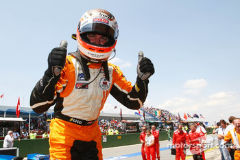 Race winner Jeroen Bleekemolen celebrates