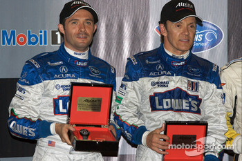 Class winners podium: P2 winners Luis Diaz and Adrian Fernandez