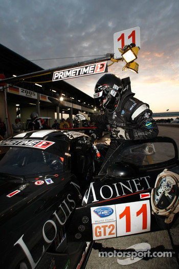Pit stop for #11 Primetime Race Group Dodge Viper Competition Coupe: Joel Feinberg, Chris Hall, Ritchie Holt