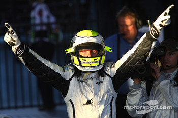 Jenson Button, Brawn GP, celebrates
