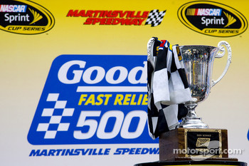 Victory lane: winner's trophy