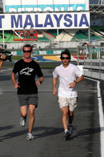 Timo Glock, Toyota F1 Team, jogging