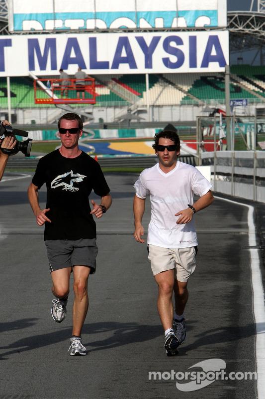Timo Glock, Toyota F1 Team, jogging