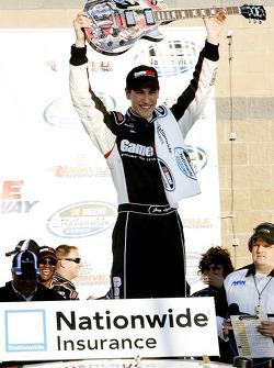 Victory lane: race winner Joey Logano celebrates
