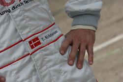 Hands of Tom Kristensen, Audi Sport Team Abt Audi A4