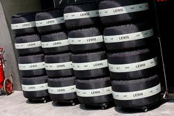 Tyres of Lewis Hamilton, McLaren Mercedes