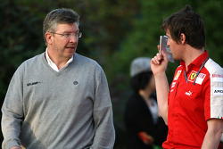 Ross Brawn Brawn GP Team Principal, Rob Smedly, Scuderia Ferrari, Track Engineer of Felipe Massa