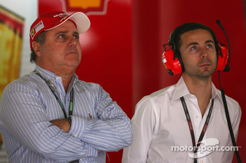 Luis Antonio Massa, Father of Felipe Massa, Scuderia Ferrari and Nicolas Todt, Manager of Felipe Massa