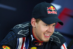 FIA press conference: second place Sebastian Vettel, Red Bull Racing