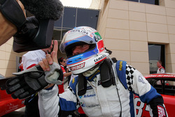 Speedcar Series Champion Gianni Morbidelli Palm Beach celebrates in parc ferme