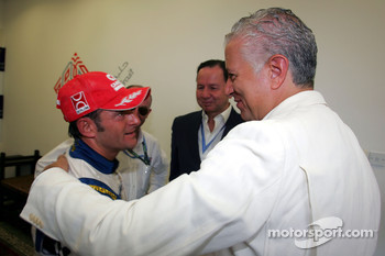 Speedcar Series Champion Gianni Morbidelli Palm Beach with Simon Azzam, CEO Union Properties