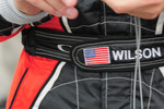 Something interesting on Justin Wilson's driver suit