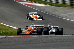 #39 Andy Meyrick (GB) Arrows A5-1, AMR Racing (1982); #7 Joaquin Folch (E) Brabham BT49C-10, Kumschick Racing (1982) #69 Rowland Kinch (GB) Arrows A4-2, G-Cat Racing (1982)