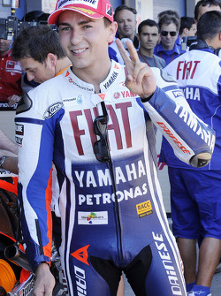 Pole winner Jorge Lorenzo, Fiat Yamaha Team