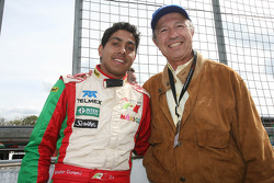 Salvador Duran, driver of A1 Team Mexico and Joe Ramirez