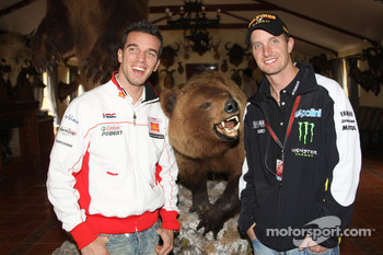 Alex De Angelis, San Carlo Honda Gresini, Colin Edwards, Monster Yamaha Tech 3, visit a ranch in Southern Spain
